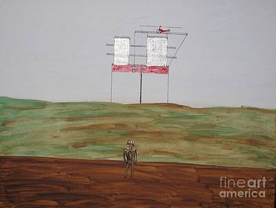 Sea Platform Painting - Tar Baby by Gregory Davis