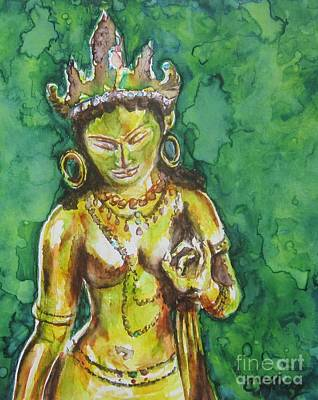 Tibetan Buddhism Painting - Tara Compassion by Christine Kfoury