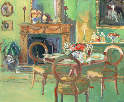 Table And Chairs Painting - Tara Road by William Ireland