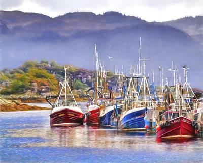 Castle Photograph - Tarbert Harbor by Marcia Colelli