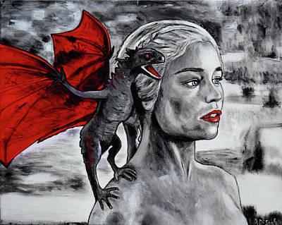 Drago Painting -  Targaryen,daenerys  by Ornella Di Scala