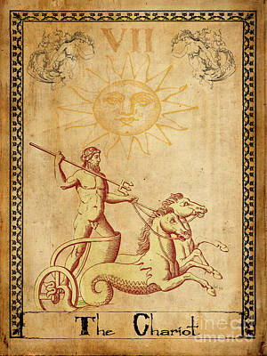 Tarot Card The Chariot Print by Cinema Photography