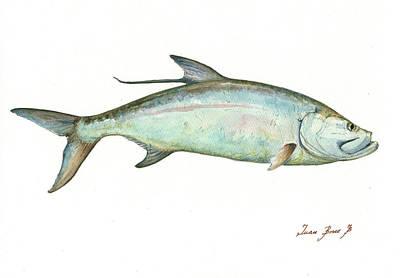 Tarpon Painting - Tarpon Fishf by Juan Bosco