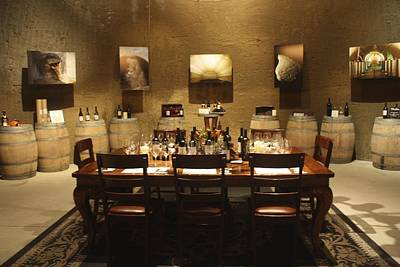 Women Tasting Wine Photograph - Tasting Room At Private Winery In Napa by Diane Leone
