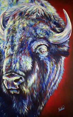 Bison Painting - Tatonka Soul by Teshia Art