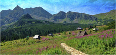 Eastern Europe Painting - Tatry Mountains - Pol 981118 by Dean Wittle