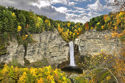 Country Scene Photograph - Taughannock Falls Autumn by Christina Rollo