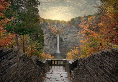 Taughannock Lights Print by Jessica Jenney