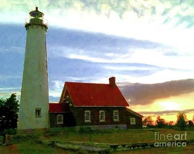 Tawas Point Eve Print by Desiree Paquette