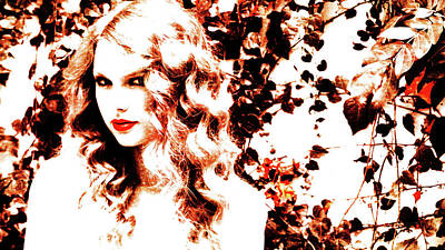 Taylor Swift Mixed Media - Taylor Swift 014 by Brian Reaves