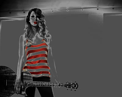 Taylor Swift Mixed Media - Taylor Swift 019 by Brian Reaves