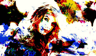 Taylor Swift Mixed Media - Taylor Swift 10a by Brian Reaves