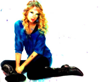 Taylor Swift Mixed Media - Taylor Swift 7s by Brian Reaves