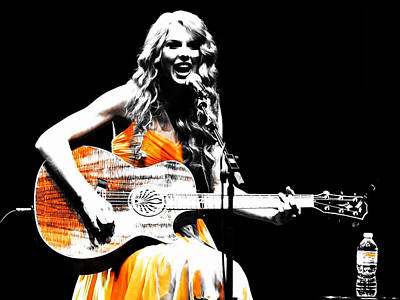 Taylor Swift Mixed Media - Taylor Swift 9s by Brian Reaves