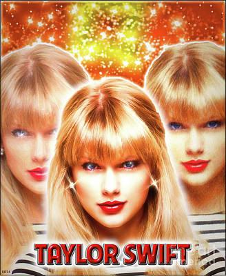 Taylor Swift Digital Art - Taylor Swift - Beautiful Vision by Robert Radmore