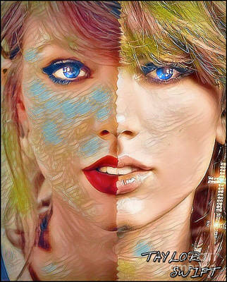 Taylor Swift Painting - Taylor Swift - Blended Perfection by Robert Radmore