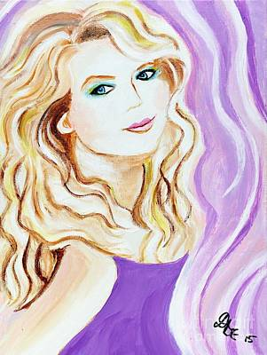 Taylor Swift Painting - Taylor Swift by Art by Danielle