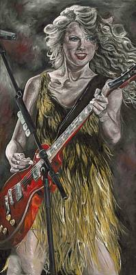 Taylor Swift Painting - Taylor Swift by David Courson