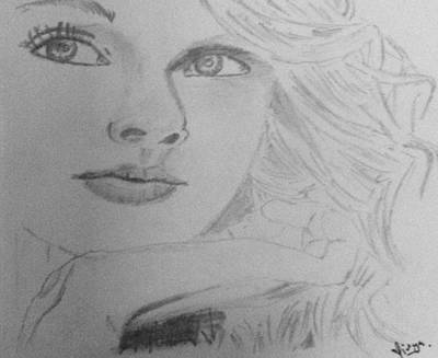 Taylor Swift Drawing - Taylor Swift by Divya Khandelwal