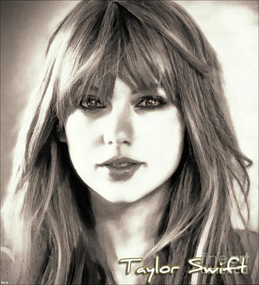 Taylor Swift Digital Art - Taylor Swift - Glowing Beauty by Robert Radmore