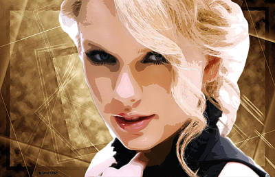 Taylor Swift Mixed Media - Taylor Swift - Oncore - Decor by Sir Josef Social Critic - ART