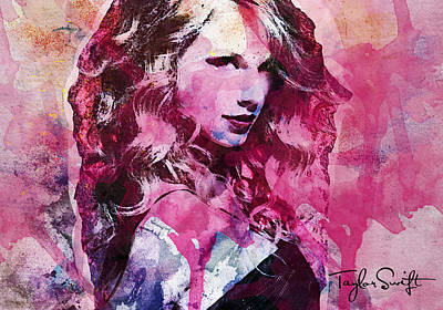 Taylor Swift Mixed Media - Taylor Swift - Oncore by Sir Josef Social Critic - ART