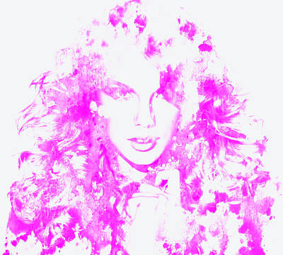 Taylor Swift Painting - Taylor Swift Paint Splatter 3c by Brian Reaves