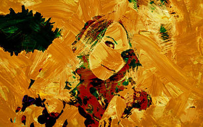 Taylor Swift Mixed Media - Taylor Swift Paint Strokes by Brian Reaves
