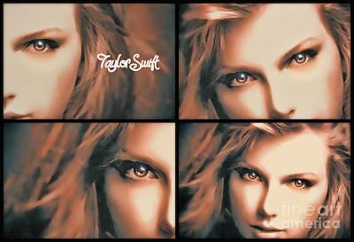 Taylor Swift Digital Art - Taylor Swift - Parallels by Robert Radmore