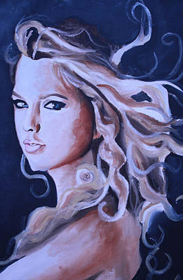 John Mayer Painting - Taylor Swift Portrait by Mikayla Ziegler