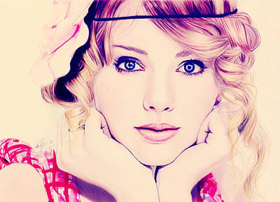 Taylor Swift Photograph - Taylor Swift Portrait by Mohamed Adam