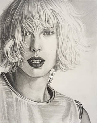 Taylor Swift Drawing - Taylor Swift Portrait by PM Highlanders