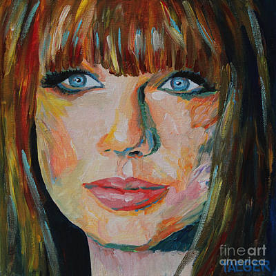 Taylor Swift Painting - Taylor Swift Portrait by Robert Yaeger