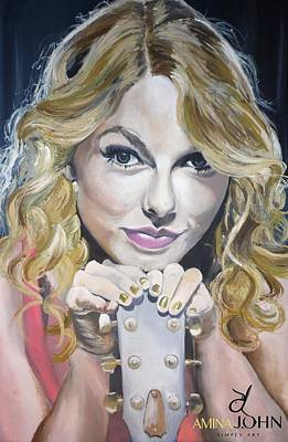 Taylor Swift Painting - Taylor Swift Portrait by Zalika Ledeatte- Williams