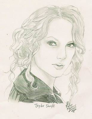 Taylor Swift Drawing - Taylor Swift by Renee Kilburn