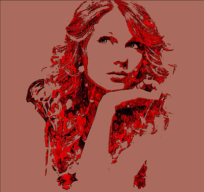 Taylor Swift Mixed Media - Taylor Swift State Of Grace 7 by Brian Reaves