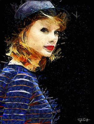 Taylor Swift Painting - Taylor Swift - The Look by Sir Josef Social Critic - ART