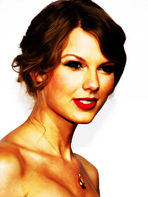 Taylor Swift Mixed Media - Taylor Swift The Lucky One by Brian Reaves
