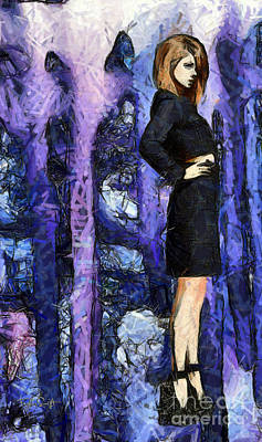 Taylor Swift Painting - Taylor Swift - The Purple Room by Sir Josef Social Critic - ART
