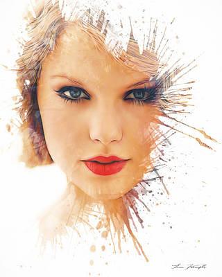 Taylor Swift Digital Art - Taylor Swift by Tim Wemple