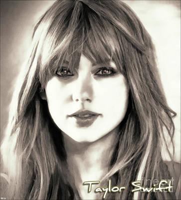 Taylor Swift Digital Art - Taylor Swift - Timeless Beauty by Robert Radmore
