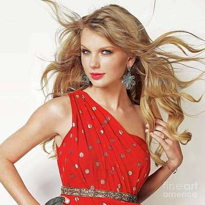 Taylor Swift Print by Twinkle Mehta