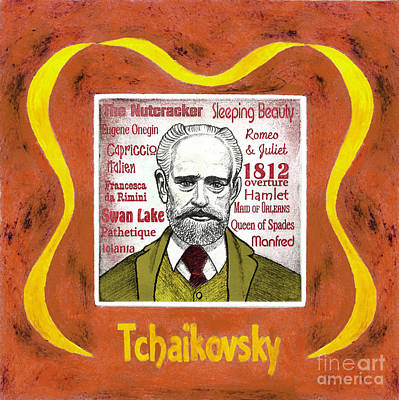 Tchaikovsky Portrait Print by Paul Helm