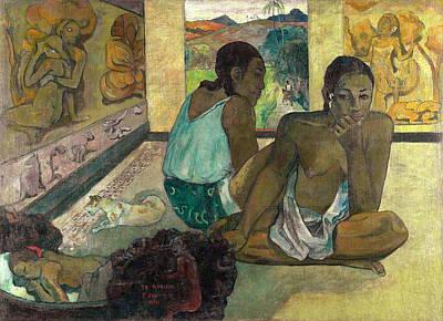 Animal Symbolism Painting - Te Rerioa, The Dream by Paul Gauguin