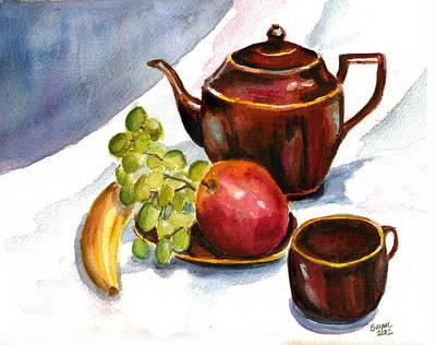 Tea And Fruit Original by Clara Sue Beym