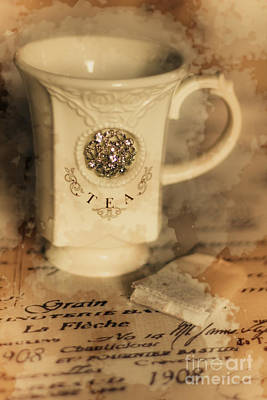 Colour Images Photograph - Tea Cups And Vintage Stains by Jorgo Photography - Wall Art Gallery