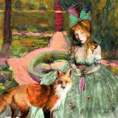 Duchess Digital Art - Tea In The Garden Of Alnwick by Kimberly Potts