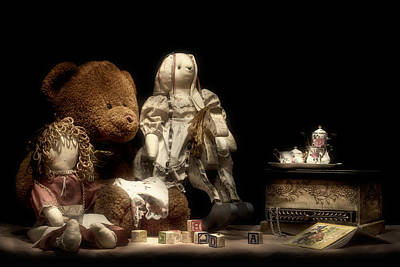 Doll Photograph - Tea Party by Tom Mc Nemar