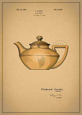 Coffee Grinders Photograph - Tea Pot Patent 1923 by Mark Rogan