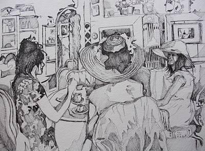 Lunch Drawing - Tea Room by Aleksandra Buha